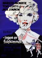 Some Like It Hot - Danish Movie Poster (xs thumbnail)
