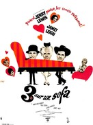 Three on a Couch - French Movie Poster (xs thumbnail)