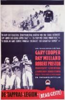 Beau Geste - Swedish Movie Poster (xs thumbnail)