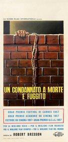 Un condamné à mort s'est échappé ou Le vent souffle où il veut - Italian Movie Poster (xs thumbnail)