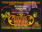 The Evil Dead - British Video release poster (xs thumbnail)