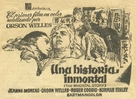 The Immortal Story - Spanish Movie Poster (xs thumbnail)