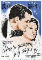 Penny Serenade - Swedish Movie Poster (xs thumbnail)