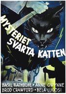 The Black Cat - Swedish Movie Poster (xs thumbnail)