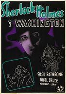 Sherlock Holmes in Washington - Swedish Movie Poster (xs thumbnail)