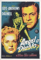 Fallen Angel - Spanish Movie Poster (xs thumbnail)