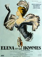 Elena et les hommes - French Movie Poster (xs thumbnail)