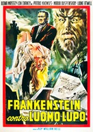 Frankenstein Meets the Wolf Man - Italian Theatrical poster (xs thumbnail)