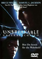 Unbreakable - German Movie Cover (xs thumbnail)