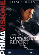 Minority Report - Italian DVD movie cover (xs thumbnail)