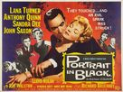 Portrait in Black - British Movie Poster (xs thumbnail)