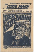 Der letzte Mann - German Movie Poster (xs thumbnail)