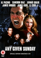 Any Given Sunday - British DVD movie cover (xs thumbnail)