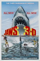 Jaws 3D - Advance movie poster (xs thumbnail)