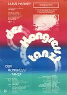 Der Kongreß tanzt - German Movie Poster (xs thumbnail)