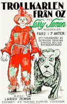 Wizard of Oz - Swedish Movie Poster (xs thumbnail)