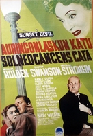 Sunset Blvd. - Finnish Movie Poster (xs thumbnail)