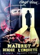 Maigret dirige l'enquête - French Movie Poster (xs thumbnail)