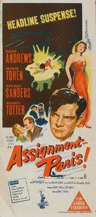 Assignment: Paris - Australian Movie Poster (xs thumbnail)