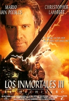 Highlander 3 - Spanish Movie Poster (xs thumbnail)