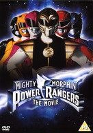 Mighty Morphin Power Rangers: The Movie - British DVD movie cover (xs thumbnail)