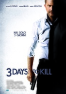 Three Days to Kill - Italian Movie Poster (xs thumbnail)