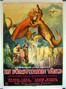 The Lost World - Swedish Movie Poster (xs thumbnail)