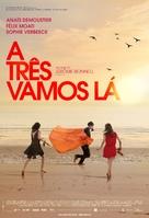 À trois, on y va - Brazilian Movie Poster (xs thumbnail)