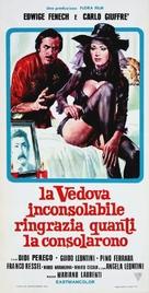 Vedova inconsolabile ringrazia quanti la consolarono, La - Italian Theatrical poster (xs thumbnail)
