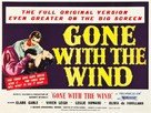 Gone with the Wind - British Re-release movie poster (xs thumbnail)