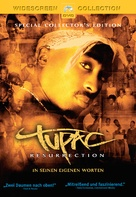 Tupac Resurrection - German DVD cover (xs thumbnail)