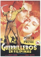 American Guerrilla in the Philippines - Spanish Movie Poster (xs thumbnail)