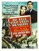 How Green Was My Valley - Belgian Movie Poster (xs thumbnail)