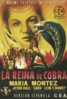 Cobra Woman - Spanish Movie Poster (xs thumbnail)