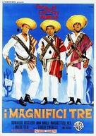 I magnifici tre - Italian Movie Poster (xs thumbnail)