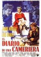Le journal d'une femme de chambre - Italian Movie Poster (xs thumbnail)
