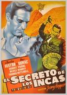 Secret of the Incas - Spanish Movie Poster (xs thumbnail)