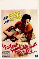 The Postman Always Rings Twice - Belgian Movie Poster (xs thumbnail)