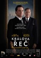 The King's Speech - Czech Movie Poster (xs thumbnail)