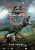 Jurassic World Fallen Kingdom - Romanian Movie Poster (xs thumbnail)