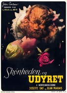La belle et la bête - Danish Movie Poster (xs thumbnail)