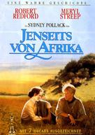 Out of Africa - German DVD movie cover (xs thumbnail)