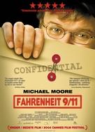 Fahrenheit 9/11 - Danish Movie Poster (xs thumbnail)