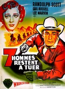 Seven Men from Now - French Movie Poster (xs thumbnail)