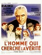 L'homme qui cherche la vérité - French Movie Poster (xs thumbnail)