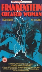 Frankenstein Created Woman - British VHS movie cover (xs thumbnail)