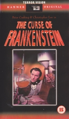 The Curse of Frankenstein - British VHS movie cover (xs thumbnail)