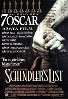 Schindler's List - Swedish Movie Poster (xs thumbnail)