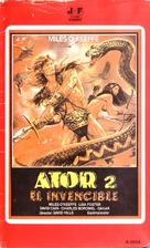 Ator 2 - L'invincibile Orion - Spanish VHS movie cover (xs thumbnail)