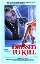 Dressed to Kill - Norwegian Movie Poster (xs thumbnail)